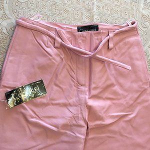NWT Pink Leather Pants by Cerrucci Sz 6, 14,
